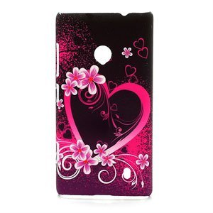 Billede af Nokia Lumia 520 inCover Design Plastik Cover - Heart