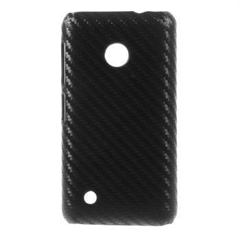 Billede af Nokia Lumia 530 inCover Design Plastik Cover - Sort Carbon