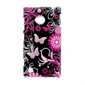 Image of Nokia Lumia 720 inCover Design Plastik Cover - Butterflies And Floral