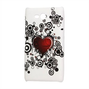 Image of Nokia Lumia 820 Design Plastik cover fra inCover - Red Heart