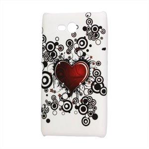 Image of Nokia Lumia 820 Design Plastik cover fra inCover - Red Heart