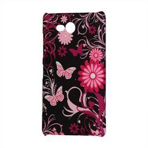 Image of Nokia Lumia 820 Design Plastik cover fra inCover - Black Butterfly Flower
