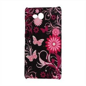 Image of Nokia Lumia 820 Design Plastik cover fra inCover - Black Butterfly Flower