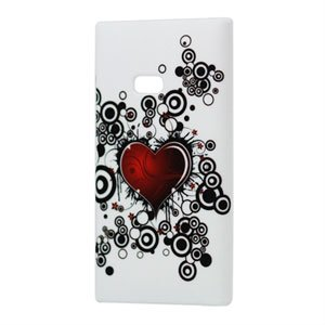 Image of Nokia Lumia 900 Plastik cover fra inCover - Red Heart