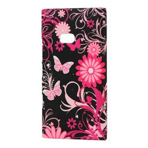 Billede af Nokia Lumia 900 Plastik cover fra inCover - Butterfly Flowers