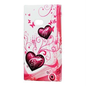 Billede af Nokia Lumia 900 Plastik cover fra inCover - Two Hearts
