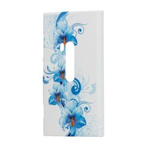 Nokia Lumia 920 Design Plastik cover fra inCover - Blue Flower