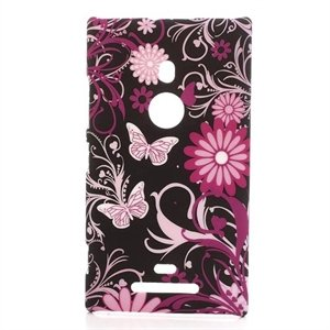 Nokia Lumia 925 inCover Design Plastik Cover - Black Butterfly
