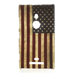 Billede af Nokia Lumia 925 inCover Design Plastik Cover - Stars And Stripes