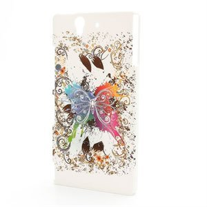 Billede af Sony Xperia Z Plastik Design cover fra inCover - White Butterfly