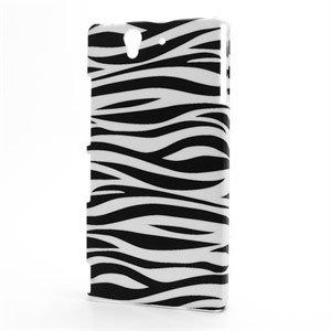 Billede af Sony Xperia Z Plastik Design cover fra inCover - Zebra
