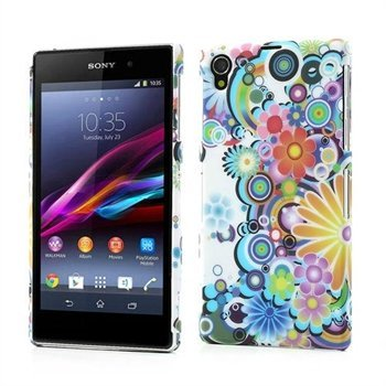 Image of   Sony Xperia Z1 inCover Design Plastik Cover - Flower Power