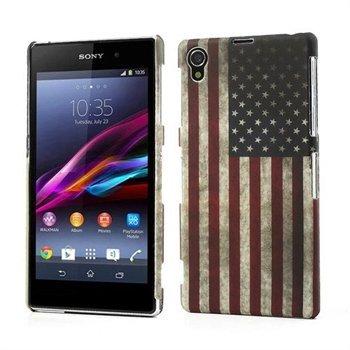 Billede af Sony Xperia Z1 inCover Design Plastik Cover - Stars & Stripes