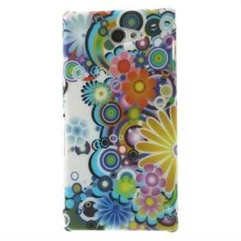 Billede af Sony Xperia M2 inCover Design Plastik Cover - Flower Power