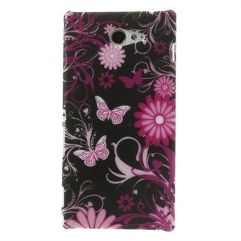 Billede af Sony Xperia M2 inCover Design Plastik Cover - Butterfly Flowers