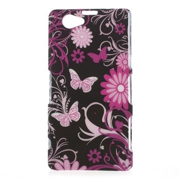 Billede af Sony Xperia Z1 Compact inCover Design Plastik Cover - Butterfly Flowers