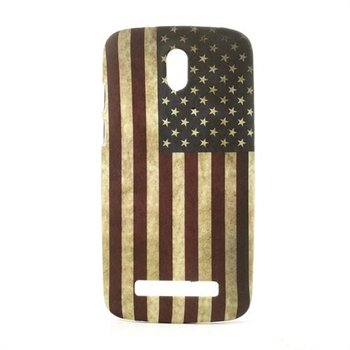 Image of HTC Desire 500 inCover Design Plastik Cover - Stars & Stripes