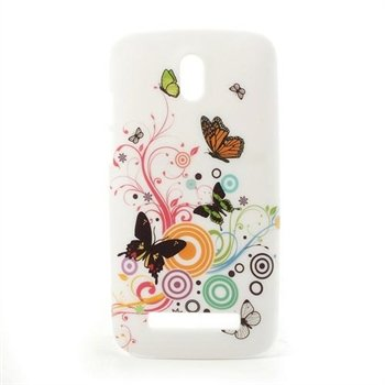 Image of HTC Desire 500 inCover Design Plastik Cover - Vivid Butterfly