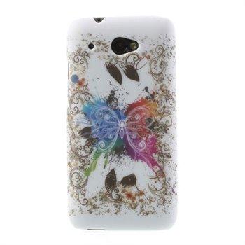 Billede af HTC Desire 601 inCover Design Plastik Cover - Butterfly White