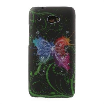 Billede af HTC Desire 601 inCover Design Plastik Cover - Butterfly Black