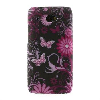 Billede af HTC Desire 601 inCover Design Plastik Cover - Black Butterfly