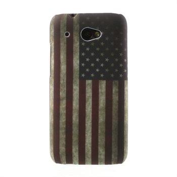 Billede af HTC Desire 601 inCover Design Plastik Cover - Stars & Stripes
