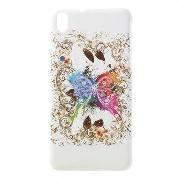 Billede af HTC Desire 816 inCover Plastik Cover - White Butterfly