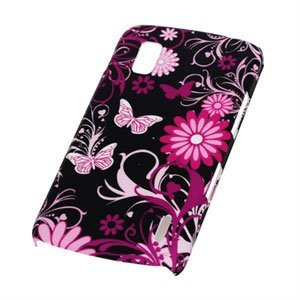Image of Google Nexus 4 Design Plastik cover fra inCover - Butterflies pink/sort