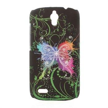 Billede af Huawei Ascend G610 inCover Design Plastik Cover - Black Butterfly