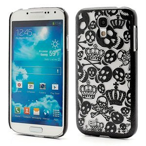 Image of   Samsung Galaxy S4 inCover Crown & Skull Design Plastik Cover - Sort