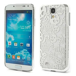 Image of   Samsung Galaxy S4 inCover Crown & Skull Design Plastik Cover - Sølv