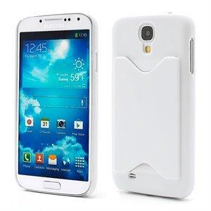 Image of   Samsung Galaxy S4 Plastik Cover Med Kreditkortholder - Hvid