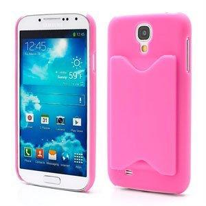 Image of   Samsung Galaxy S4 Plastik Cover Med Kreditkortholder - Rosa