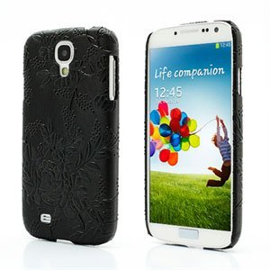 Image of   Samsung Galaxy S4 inCover Design Plastik Cover - Black Grapevine Floral