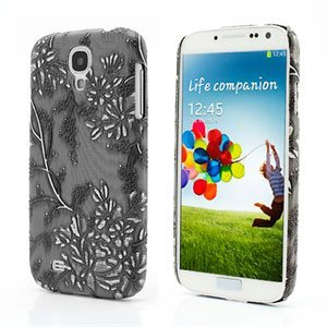Image of   Samsung Galaxy S4 inCover Design Plastik Cover - Grey Grapevine Floral