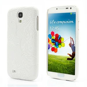 Image of   Samsung Galaxy S4 inCover Design Plastik Cover - White Grapevine Floral