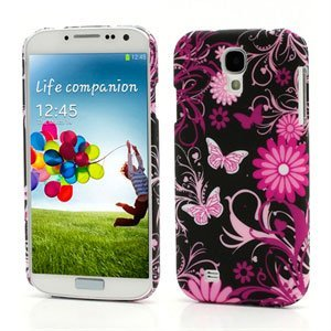 Image of   Samsung Galaxy S4 inCover Design Plastik Cover - Butterflies And Floral