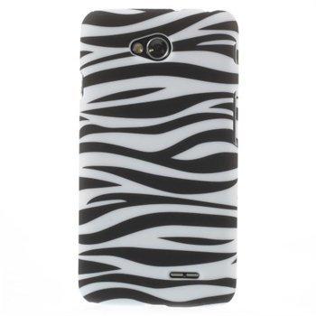 Image of LG L70 inCover Design Plastik Cover - Zebra