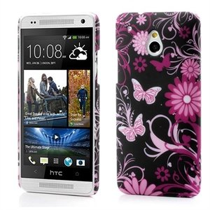 Billede af HTC One mini inCover Design Plastik Cover - Black Butterfly