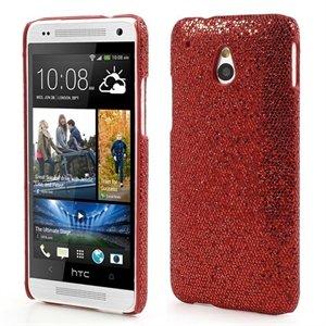 Billede af HTC One mini inCover Design Plastik Cover - Rød Glitter