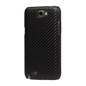 Billede af Samsung Galaxy Note 2 Design Plastik cover fra inCover - carbon sort