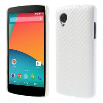 Image of Nexus 5 inCover Design Plastik Cover - Hvid Carbon