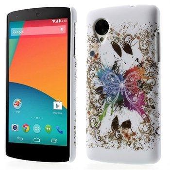 Billede af Nexus 5 inCover Design Plastik Cover - White Butterfly