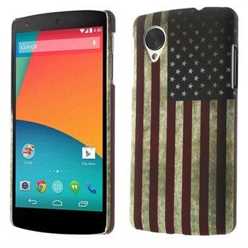 Billede af Nexus 5 inCover Design Plastik Cover - Stars & Stripes