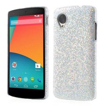 Billede af Nexus 5 inCover Design Plastik Cover - Sølv Glitter