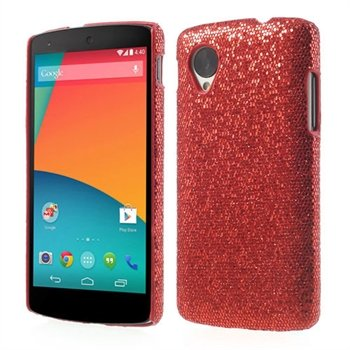 Image of Nexus 5 inCover Design Plastik Cover - Rød Glitter