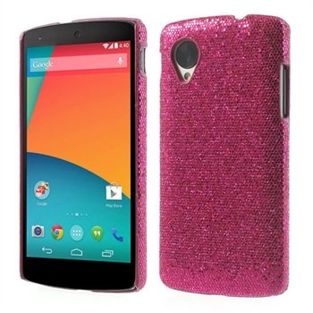 Image of Nexus 5 inCover Design Plastik Cover - Rosa Glitter
