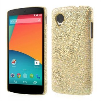Image of Nexus 5 inCover Design Plastik Cover - Guld Glitter