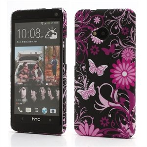 Image of HTC One inCover Design Plastik Cover - Black Butterfly