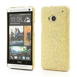 Image of HTC One inCover Design Plastik Cover - Guld Glitter